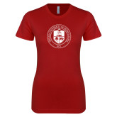 Next Level Ladies SoftStyle Junior Fitted Cardinal Tee-Seal