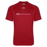 Under Armour Cardinal Tech Tee-IUP Logo Wordmark