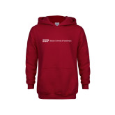 Youth Cardinal Fleece Hoodie-IUP Logo Wordmark