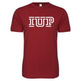 Next Level SoftStyle Cardinal T Shirt-IUP Logo