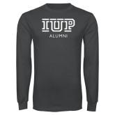 Charcoal Long Sleeve T Shirt-Alumni