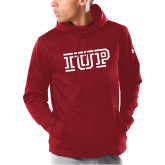 Under Armour Cardinal Armour Fleece Hoodie-IUP Logo