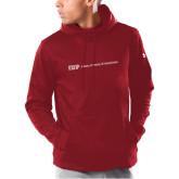 Under Armour Cardinal Armour Fleece Hoodie-IUP Logo Wordmark