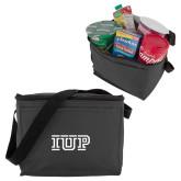 Six Pack Grey Cooler-IUP Logo