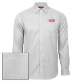 Red House White Diamond Dobby Long Sleeve Shirt-IUP Logo