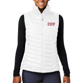 Columbia Lake 22 Ladies White Vest-IUP Logo