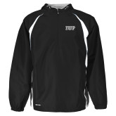 Holloway Hurricane Black/White Pullover-IUP Logo