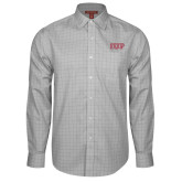 Red House Grey Plaid Long Sleeve Shirt-IUP Logo