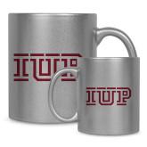 Full Color Silver Metallic Mug 11oz-IUP Logo