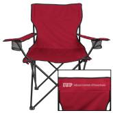 Deluxe Cardinal Captains Chair-IUP Logo Wordmark