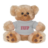 Plush Big Paw 8 1/2 inch Brown Bear w/Grey Shirt-IUP Logo