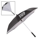 48 Inch Auto Open Black/White Inversion Umbrella-IUP Logo