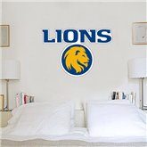 3.5 ft x 4 ft Fan WallSkinz-Stacked Lions with Head