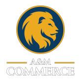 Medium Decal-Mascot AM Commerce, 8 inches tall