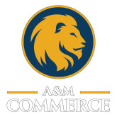 Large Decal-Mascot AM Commerce, 12 inches tall