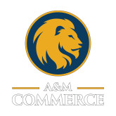 Small Decal-Mascot AM Commerce, 6 inches tall