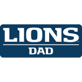 Dad Decal-Lions Dad, 6 inches wide