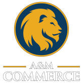 Extra Large Decal-Mascot AM Commerce, 18 inches tall