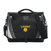 Slope Black/Grey Compu Messenger Bag-Stacked Lions with Head
