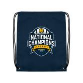 Navy Drawstring Backpack-2017 National Champions