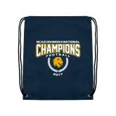 Navy Drawstring Backpack-2017 National Football Champions