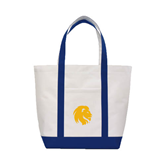 Contender White/Navy Canvas Tote-Official Logo