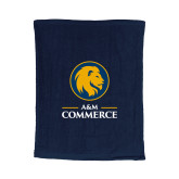 Navy Rally Towel-Mascot AM Commerce