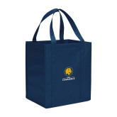 Non Woven Navy Grocery Tote-Mascot AM Commerce