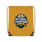 Gold Drawstring Backpack-2017 National Champions