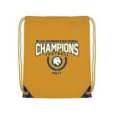 Gold Drawstring Backpack-2017 National Football Champions
