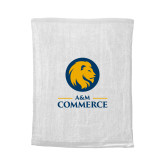 White Rally Towel-Mascot AM Commerce