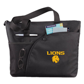 Excel Black Sport Utility Tote-Stacked Lions with Head