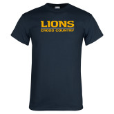 Navy T Shirt-Lions Cross Country