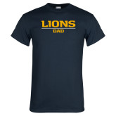 Navy T Shirt-Lions Dad