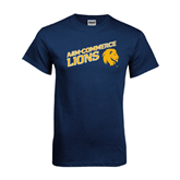 Navy T Shirt-Angled A&M Commerce Lions