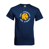 Navy T Shirt-A&M Commerce Round Design