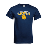 Navy T Shirt-Arched A&M Commerce Lions