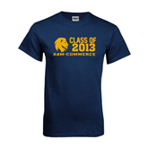 Navy T Shirt-Flat Class Of Design