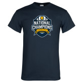 Navy T Shirt-2017 National Champions