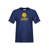 Youth Navy T Shirt-Softball