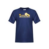 Youth Navy T Shirt-Soccer Swoosh