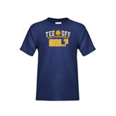 Youth Navy T Shirt-Tee Off Golf Design