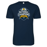 Next Level SoftStyle Navy T Shirt-2017 National Champions