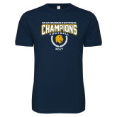 Next Level SoftStyle Navy T Shirt-2017 National Football Champions