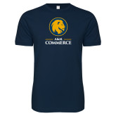 Next Level SoftStyle Navy T Shirt-Mascot AM Commerce
