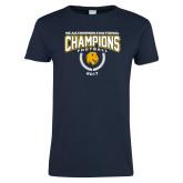 Ladies Navy T Shirt-2017 National Football Champions