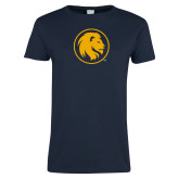 Ladies Navy T Shirt-Mascot
