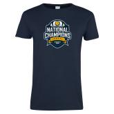 Ladies Navy T Shirt-2017 National Champions