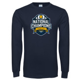 Navy Long Sleeve T Shirt-2017 National Champions