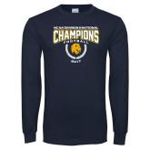Navy Long Sleeve T Shirt-2017 National Football Champions